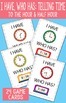 I Have, Who Has Telling Time to The Half Hour and Hour Printable Cards