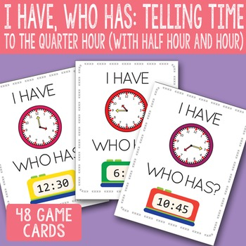 picture relating to Telling Time Printable Game named I Comprise, Who Incorporates Telling Season towards The Quarter Hour Printable Playing cards