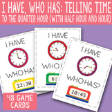 I Have, Who Has Telling Time to The Quarter Hour Printable Cards