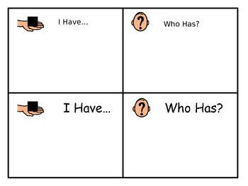 """""""I Have, Who Has"""" Template"""