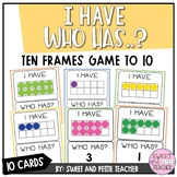 I Have Who Has Ten Frames Game (to 10)
