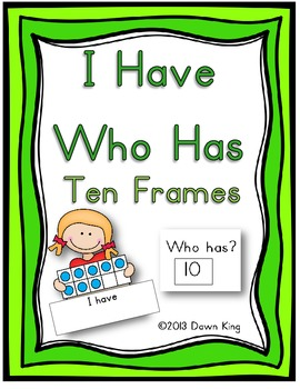 I Have Who Has Ten Frames game