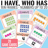I Have, Who Has Ten Frames up to 20 Game