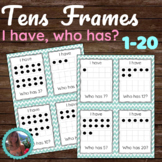 I Have, Who Has Tens Frames Game (Numbers 1-20) - Print & Play!