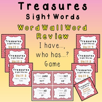 I Have, Who Has - Texas Treasures Word Wall Review Units 1-6 plus Kinder DOTS