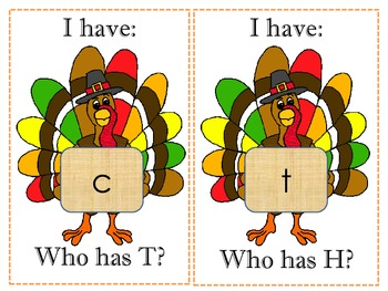 I Have Who Has Thanksgiving ABC Game