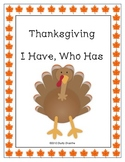 I Have Who Has: Thanksgiving Words & Vocabulary