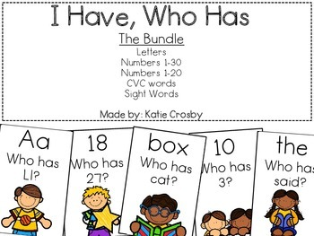 I Have, Who Has: The Bundle
