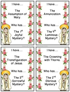 I Have....Who Has - Mysteries of the Rosary