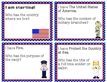 I Have, Who Has - The United States Military!