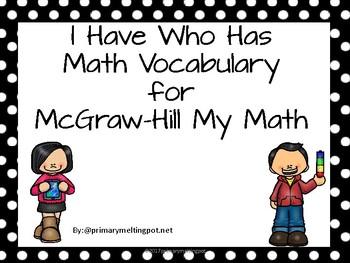 I Have Who Has Third Grade Math Vocabulary