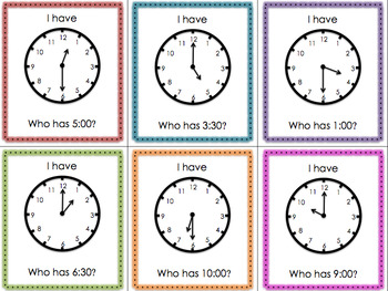 I Have Who Has - Time