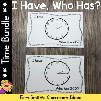 I Have, Who Has? Time Bundle