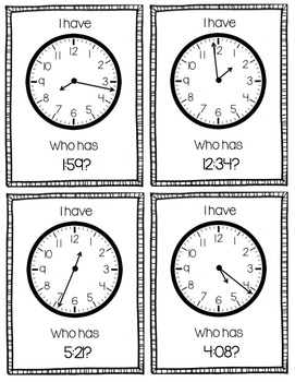 I Have, Who Has? Time Clocks