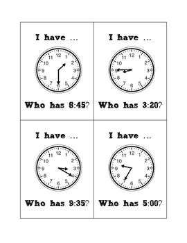 I Have Who Has Time Edition 2.MD