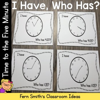 I Have, Who Has? Time to the Five Minute Cards