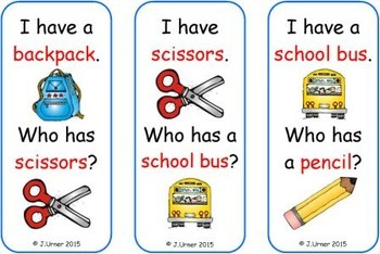 I Have. Who Has? 'Tis the Season for Back to School