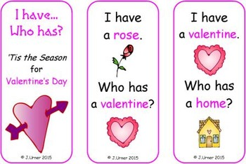 I Have. Who Has? 'Tis the Season for Valentine's Day