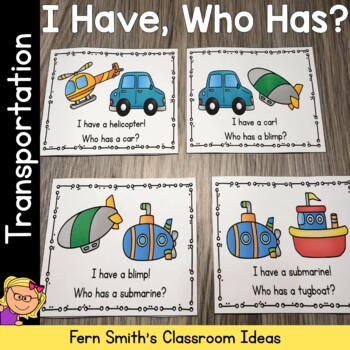 I Have, Who Has? Transportation Cards