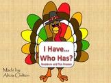 I Have Who Has Turkey Ten Frames