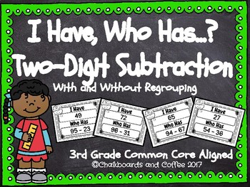 I Have Who Has Two-Digit Subtraction