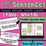 Types of Sentences I Have Who Has Game (Declarative, Interrog., Imper., Exclam)