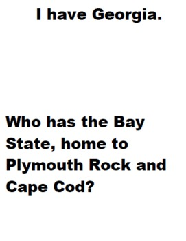 I Have Who Has U.S.A. State Landmarks
