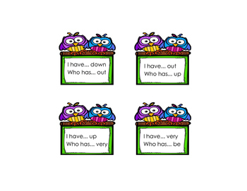I Have Who Has for Sight Words 1st grade {Unit 1}