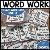 I Have Who Has | Word Work | Center Activities | Unit 3