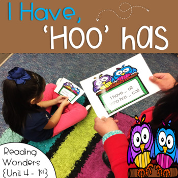I Have Who Has for Reading Wonders Sight Words 1st grade {Unit 4}