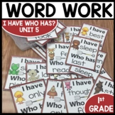 I Have Who Has | Word Work | Center Activities | Unit 5