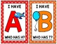 *UPDATED* I Have... Who Has? Uppercase Alphabet Game