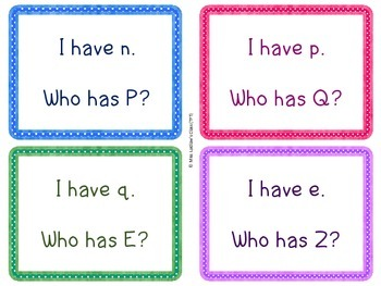 I Have, Who Has? - Uppercase and Lowercase Letter Recognition {FREEBIE}