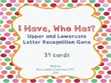 I Have, Who Has? - Uppercase and Lowercase Letter Recognit