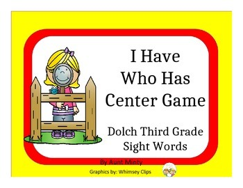 I Have Who Has Using Dolch Third Grade Sight Words