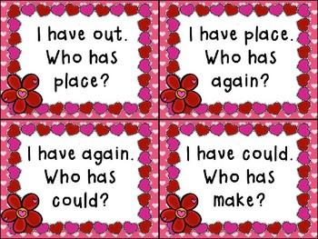 I Have... Who Has...? Valentine Edition Grade 1