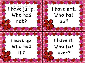 I Have... Who Has...? Valentine  Sight Word Edition Grade 1-2