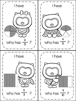 Fractions I Have, Who Has... Valentine's Day Themed
