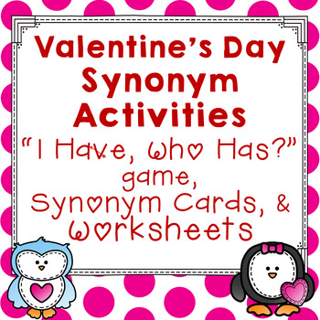 Valentine's Day Synonym Activities