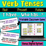 Verb Tenses I Have Who Has Game (Past, Present, Future)