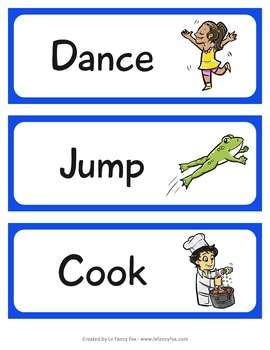 I Have, Who Has - Verbs and Nouns - Illustrated Card Game in English