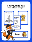 I Have, Who Has - Verbs and Nouns - Illustrated Card Game