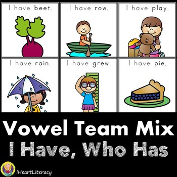 I Have Who Has Vowel Team Mix Game