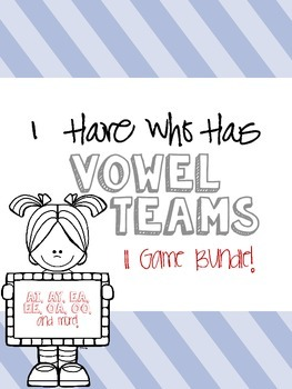 I Have Who Has Vowel Teams Game