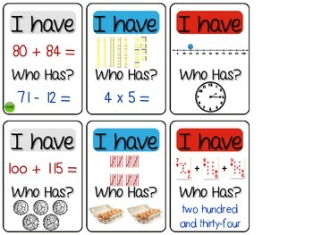 I Have, Who Has ~ Ways to Show a Number Edition - 2nd/3rd Grade