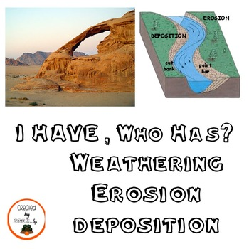 I Have, Who Has?  Weathering Erosion Deposition