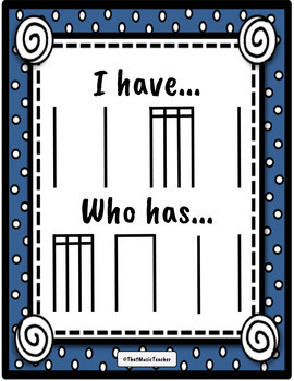 I Have, Who Has   Level Three   Winter Rhythm Cards