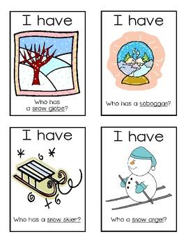 I Have, Who Has? Winter Vocabulary Freebie