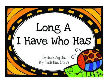 I Have Who Has With Long A (a_e, ai, ei, ay)