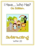 I Have Who Has - Wizard of Oz - Subtracting within 20 - Math Folder Game